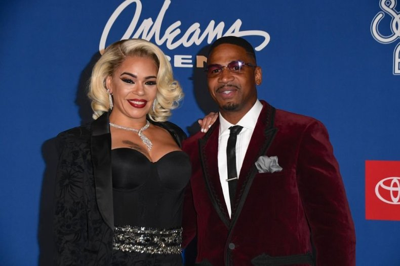 Stevie J and Faith Evans at the Soul Train awards, November 2018 | Source: Getty Images