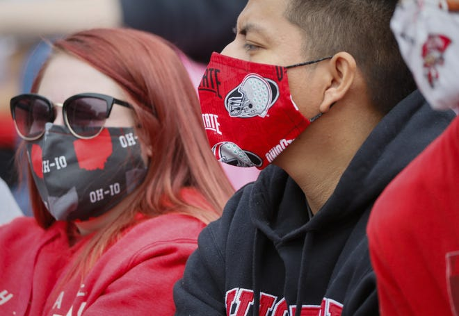 Masks were required at the 2021 Ohio State spring game.
