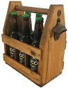 H&R Handcrafted Wooden Beer Carrier