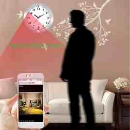 CAMAKT WiFi Wall Clock Camera