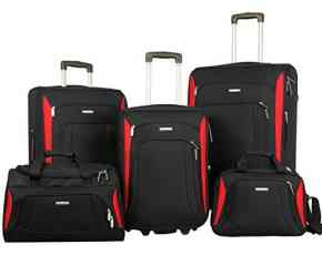 Merax Luggage Set Softshell Deluxe Suitcase