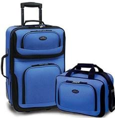 U.S Traveler Rio Lightweight Luggage Suitcase