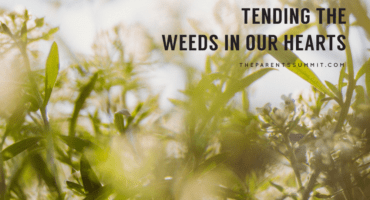 Tending the weeds in our hearts BLOG
