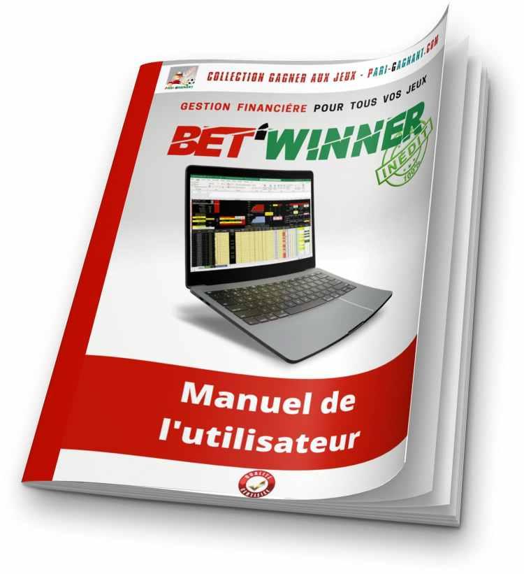 Manuel utilisateur de la gestion financière Bet'Winner - Gagner au Turf et aux paris sportifs - Pari-Gagnant.com