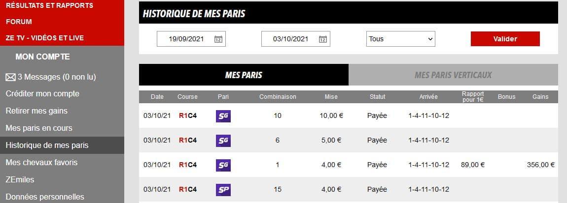 Sélection rentable offerte avec la gestion Bet'Winner - 337,00 € de bénéfices prix Arc de Triomphe 2021 - Pari-Gagnant.com