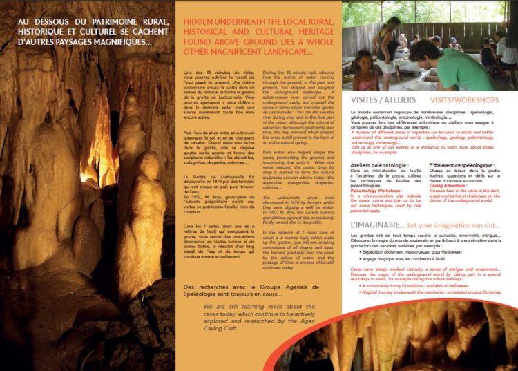 Flyer Grotte de Lastournelle verso