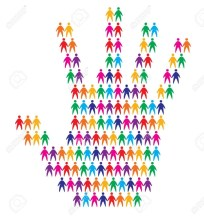12931808-hand-with-people-background-abstract-vector-illustration-Stock-Vector