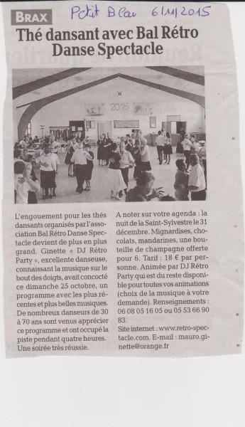 Le Petit Bleu Oct 2015