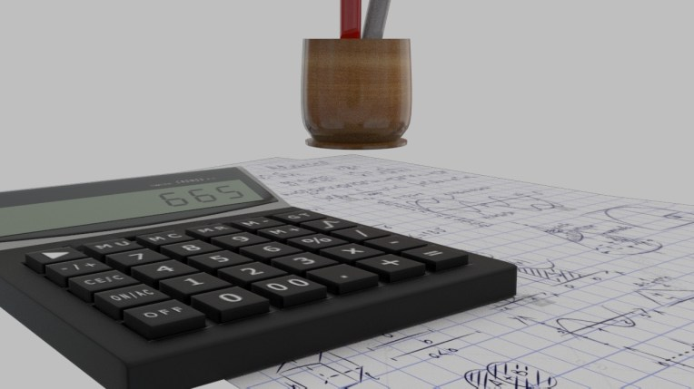 calculator_and_pens