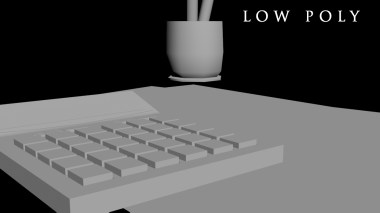 calculator_and_pens_lowpoly