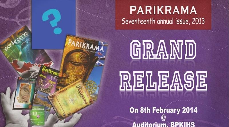 parikrama 17th Edition release