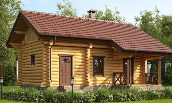 Баня с сараем под одной крышей, а также с барбекю, летней ...