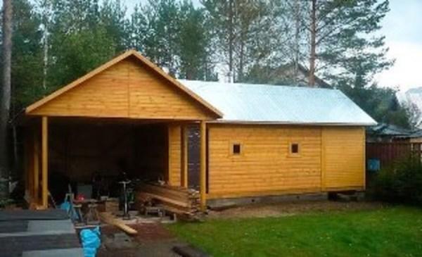 Баня с гаражом под одной крышей или еще беседка вместе ...