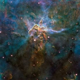 A pillar of gas and dust in the Carina Nebula