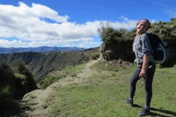 Oritt am Quilotoa Krater
