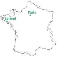 Carte de Lorient