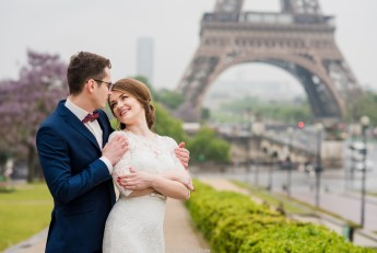 wedding ceremony near the eiffel tower