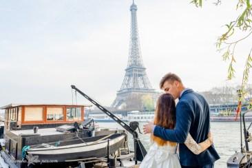 Свадебная фотосессия в Париже у Эйфелевой башни