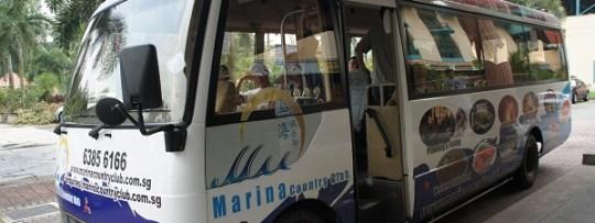 Navette vers le marina county club