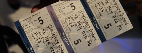 Tickets pour le cinéma à Singapour, pour la chambre froide plutôt