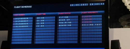Planning des vols iFly Singapour