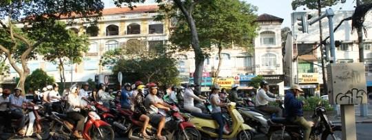 Les scooters, mode de déplacement favori à Hô Chi Minh Ville