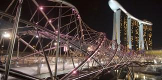Double Helix Bridge à Marina Bay Sands (Photo issue du blog Petits Globetrotteurs)
