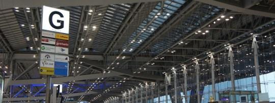 Hall de départ de Suvarnabhumi, aéroport international de Bangkok