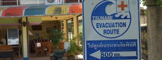 Tsunami Evacuation Route à Phuket