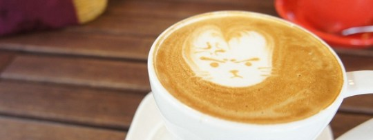 Latte Art à Chock Full of Beans (Changi Village)
