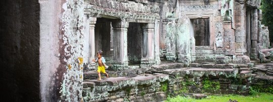 Dans les ruines d'Angkor...