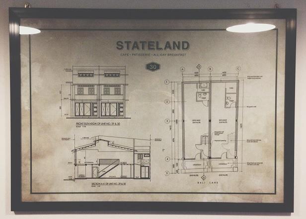 Plan de Stateland Cafe à Bali Lane (Singapour)