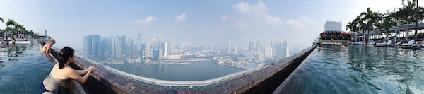 Marina Bay Sands et son infinity pool à Singapour