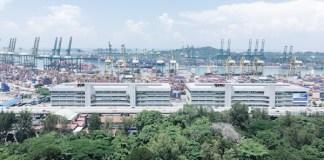 Le port de Singapour