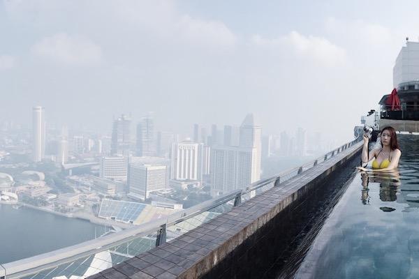 Piscine a debordement Singapour