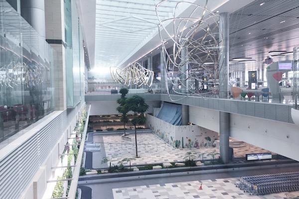 Arrive Singapour aeroport