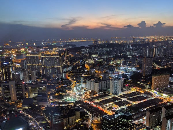 Singapour la nuit