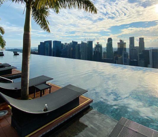 Marina bay sand hotel piscine singapour