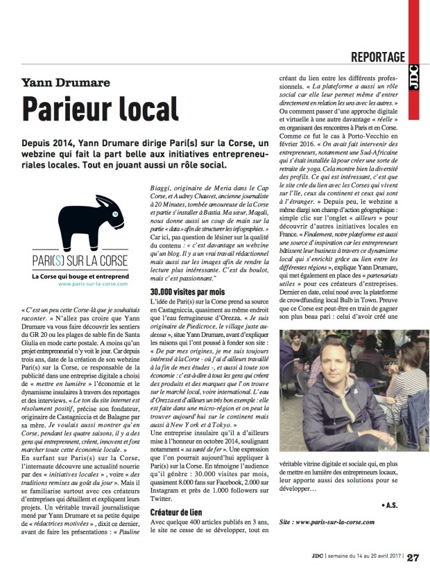 JDC - Pari(s) sur la Corse