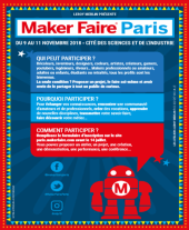 Flyer Maker Faire Paris 2018 - Appel aux makers