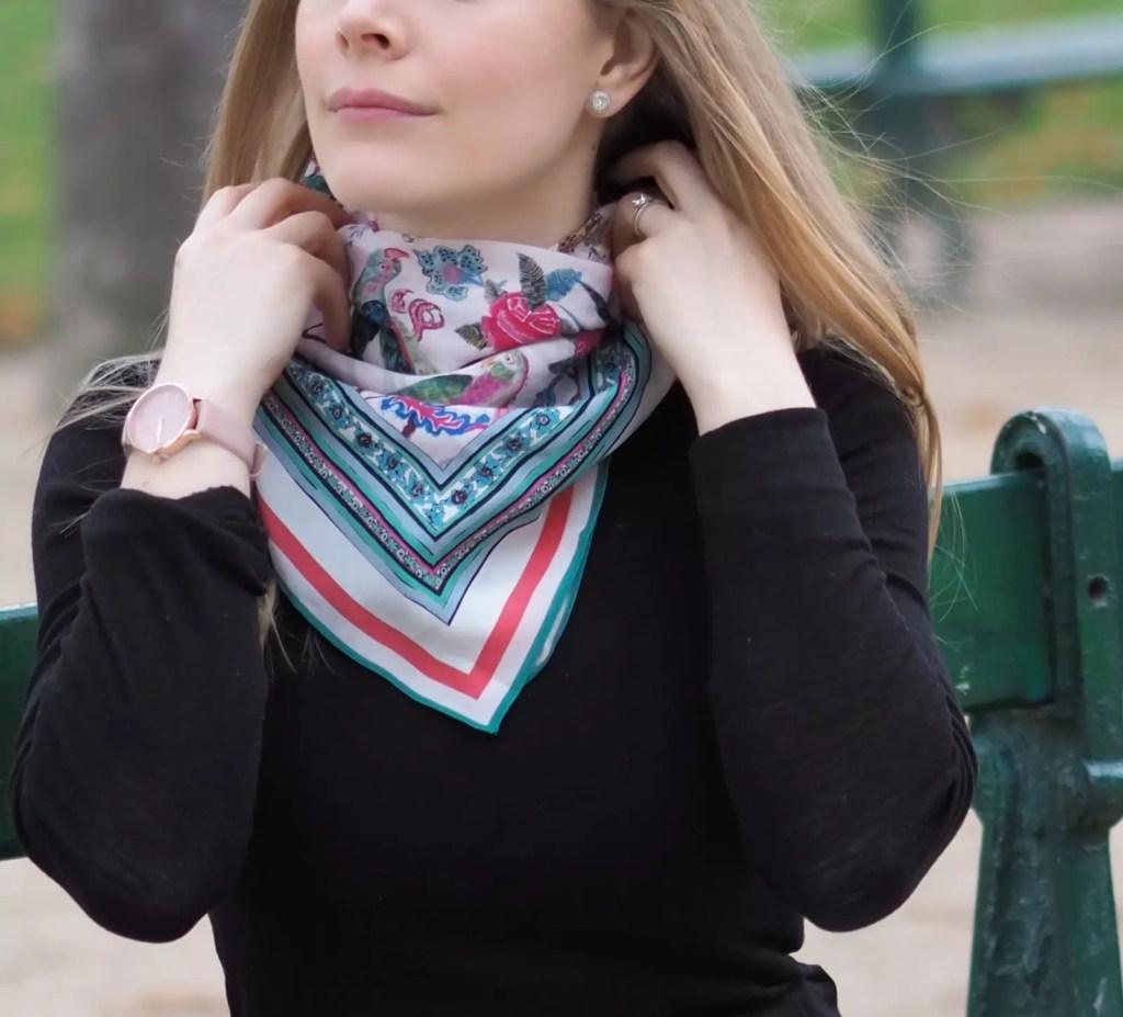 Stylizowanie szali i apaszek. Lekcja paryskiego stylu
