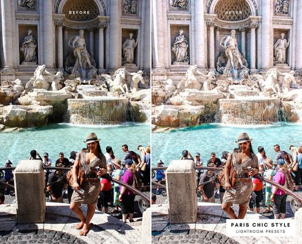 Before & After Rome Italy Lightroom Presets 1.1 Desktop Mobile Instagram Blog Fashion Lifestyle Travel Paris Chic Style 1