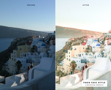 Before & After Santorini Greece Lightroom Presets 1.1 Desktop Mobile Instagram Blog Fashion Lifestyle Travel Paris Chic Style 5
