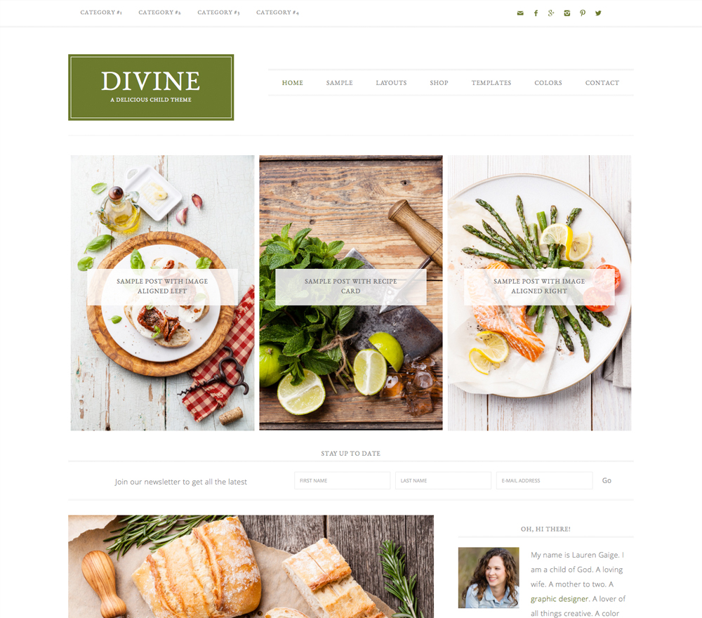 How to start a blog lifestyle finance travel fashion food blogger fitness health beauty beginners easy tutorial Best Theme For Blogs Site StudioPress Themes Paris Chic Style 4
