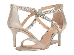 What Color Shoes To Wear With A Red Dress Gold Shoes With A Red Dress Jewel Badgley Mischka Jaylee Paris Chic Style 2