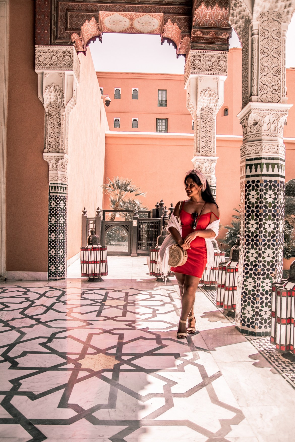 What Color Shoes To Wear With A Red Dress How To Wear A Summer Red Dress What To Wear In Morocco Marrakech Paris Chic Style 9