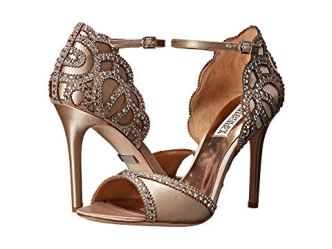 What Color Shoes To Wear With A Red Dress Nude Beige Blush Shoes Badgley Mischka Roxy Paris Chic Style 4