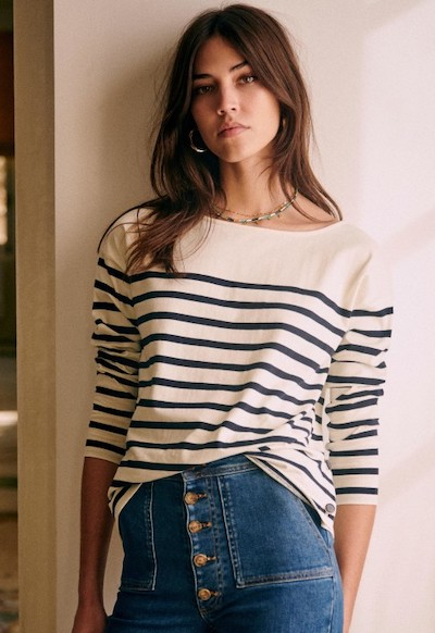 French Style Outfits French Striped Shirts Parisian Fashion Sezane Paris Chic Style