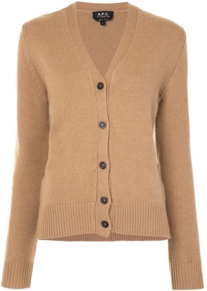 French Clothing Brand APC French Cardigan Sweater Parisian Style Paris Chic Style