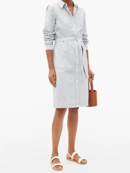 French Clothing Brand APC Shirt Dress Parisian Style Paris Chic Style